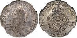 1/3 Riksdaler Sweden Silver Gustav III of Sweden (1746 - 1792)
