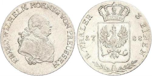 1/3 Thaler 普魯士王國 (1701 - 1918) 銀 腓特烈·威廉二世
