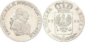 1/3 Thaler Royaume de Prusse (1701-1918) Argent Frédéric-Guillaume II de Prusse