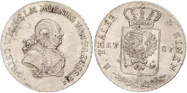 1/3 Thaler Regno di Prussia (1701-1918) Argento Federico Guglielmo II di Prussia