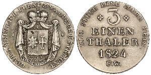 1/3 Thaler Principado de Waldeck (1180 - 1918) Plata Jorge II de Waldeck-Pyrmont