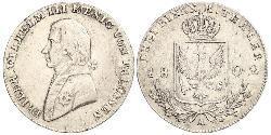 1/3 Thaler Reino de Prusia (1701-1918) Plata Federico Guillermo III de Prusia (1770 -1840)