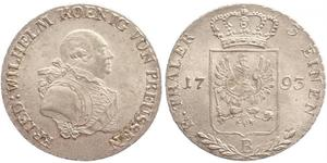 1/3 Thaler Königreich Preußen (1701-1918) Silber Friedrich Wilhelm II. (Preußen)