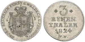 1/3 Thaler Waldeck (1180 - 1918) Silber Georg II. (Waldeck-Pyrmont)