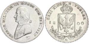 1/3 Thaler Kingdom of Prussia (1701-1918) Silver Frederick William III of Prussia (1770 -1840)