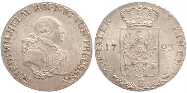 1/3 Thaler Kingdom of Prussia (1701-1918) Silver Frederick William II of Prussia