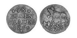 1/48 Thaler Anhalt-Bernburg (1603 - 1863) Billon Victor Frederick, Prince of Anhalt-Bernburg (1700 – 1765)