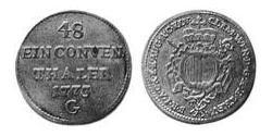 1/48 Thaler Imperial City of Augsburg (1276 - 1803) Silver
