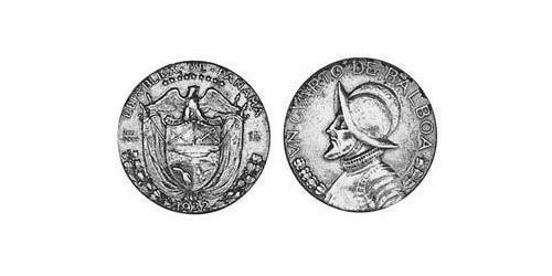 1/4 Бальбоа Республика Панама Серебро Нуньес де Бальбоа, Васко (1475 – 1519)