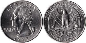 1/4 Долар США (1776 - ) Нікель/Мідь Джордж Вашингтон