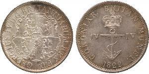 1/4 Долар Британська Індія (1858-1947) Срібло Георг IV (1762-1830)