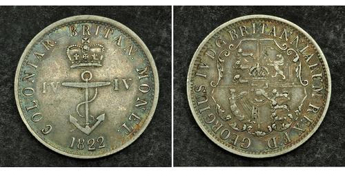 1/4 Долар Британська імперія (1497 - 1949) Срібло Георг IV (1762-1830)