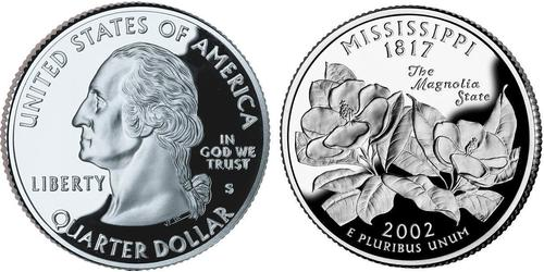 1/4 Долар США (1776 - ) Срібло Джордж Вашингтон
