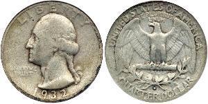 1/4 Долар / 25 Цент США (1776 - ) Мідь/Срібло Джордж Вашингтон