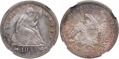 1/4 Долар / 25 Цент США (1776 - ) Мідь/Срібло