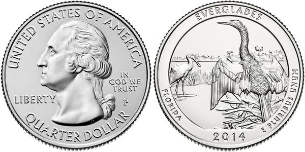 1/4 Долар / 25 Цент США (1776 - ) Нікель Джордж Вашингтон