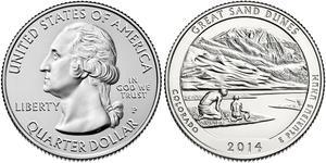1/4 Доллар США (1776 - ) Медь Джордж Вашингтон