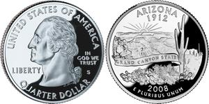 1/4 Доллар США (1776 - ) Никель/Медь Джордж Вашингтон