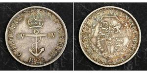 1/4 Доллар Британская Индия (1858-1947) Серебро Георг IV (1762-1830)