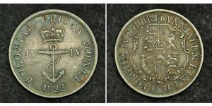 1/4 Доллар Британская империя (1497 - 1949) Серебро Георг IV (1762-1830)