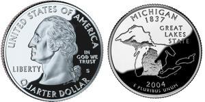 1/4 Доллар США (1776 - ) Серебро Джордж Вашингтон