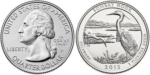 1/4 Доллар / 25 Цент США (1776 - ) Никель Джордж Вашингтон
