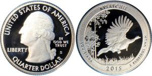 1/4 Доллар / 25 Цент США (1776 - ) Серебро Джордж Вашингтон