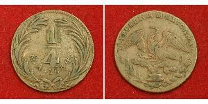 1/4 Реал Second Federal Republic of Mexico (1846 - 1863) Медь