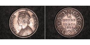 1/4 Рупия Британская Индия (1858-1947) Серебро Виктория (1819 - 1901)