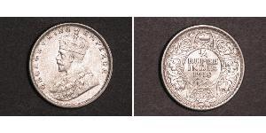 1/4 Рупія Британська Індія (1858-1947) Срібло Георг V (1865-1936)