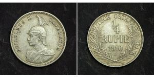 1/4 Рупія Німецька Східна Африка (1885-1919) Срібло