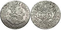 1/4 Талер Данциг/Гданьск  (1454-1793) / Речь Посполитая (1569-1795) Серебро Сигизмунд III