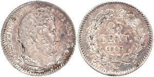 1/4 Франк Июльская монархия (1830-1848) Серебро Луи-Филипп I (1773 -1850)