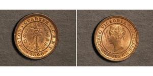 1/4 Цент Шри Ланка/Цейлон Медь Виктория (1819 - 1901)