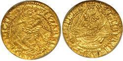 1/4 Angel Kingdom of England (927-1649,1660-1707) Gold Elizabeth I (1533-1603)
