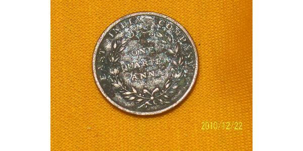 1/4 Anna Raj britannique (1858-1947) Cuivre