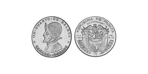 1/4 Balboa Panamá Argento Vasco Núñez de Balboa (1475 – 1519)