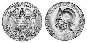 1/4 Balboa  Copper/Nickel Vasco Núñez de Balboa (1475 – 1519)