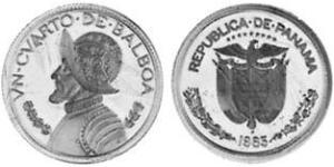 1/4 Balboa Panamá Níquel/Cobre Vasco Núñez de Balboa (1475 – 1519)