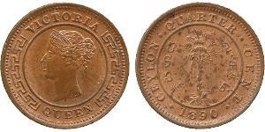 1/4 Cent Sri Lanka/Ceylon 銅 维多利亚 (英国君主)