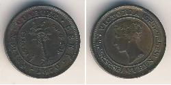 1/4 Cent Sri Lanka Cobre Victoria (1819 - 1901)