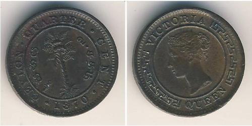 1/4 Cent Sri Lanka Cuivre Victoria (1819 - 1901)