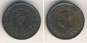 1/4 Cent Sri Lanka Rame Vittoria (1819 - 1901)