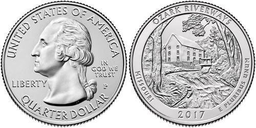 1/4 Dólar Estados Unidos de América (1776 - ) Cobre George Washington