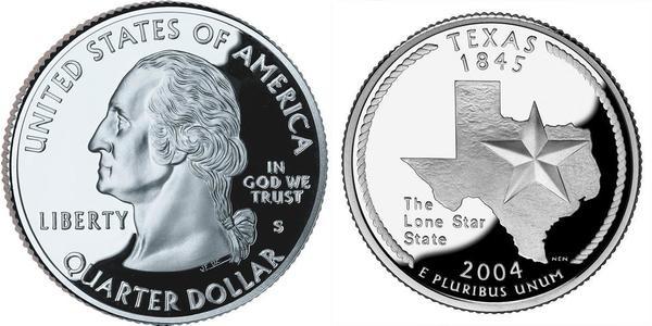 1/4 Dólar Estados Unidos de América (1776 - ) Plata George Washington