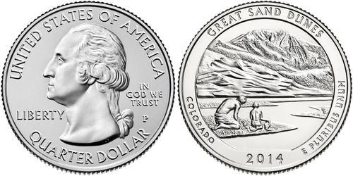 1/4 Dollar 美利堅合眾國 (1776 - ) 銅 乔治·华盛顿