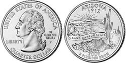 1/4 Dollar USA (1776 - ) Copper/Nickel George Washington