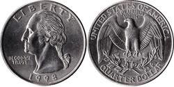 1/4 Dollar USA (1776 - ) Copper/Nickel George Washington