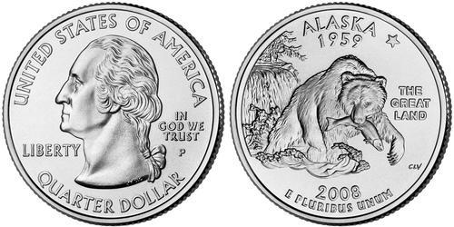 1/4 Dollar Vereinigten Staaten von Amerika (1776 - ) Kupfer/Nickel