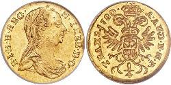 1/4 Ducat Holy Roman Empire (962-1806) Gold Maria Theresa of Austria (1717 - 1780)